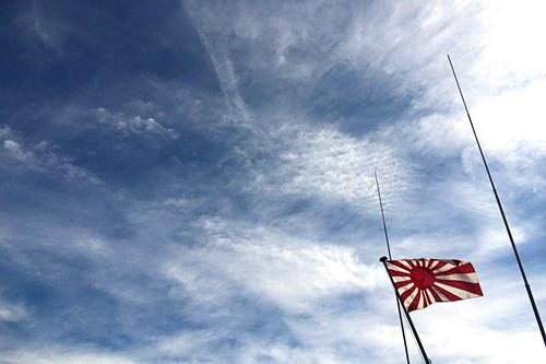 イメージ_旭日旗と空