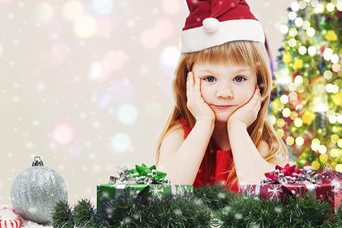 イメージ_サンタ帽の女の子
