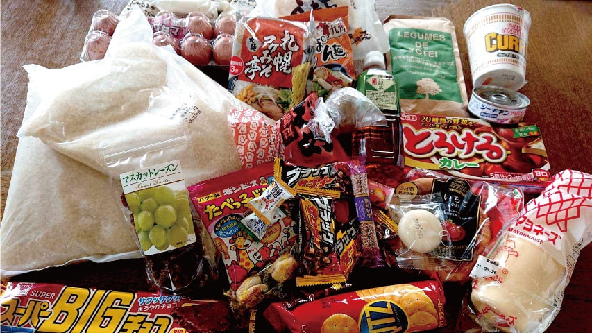 前回の配布食材