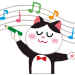 イラスト_楽譜_猫